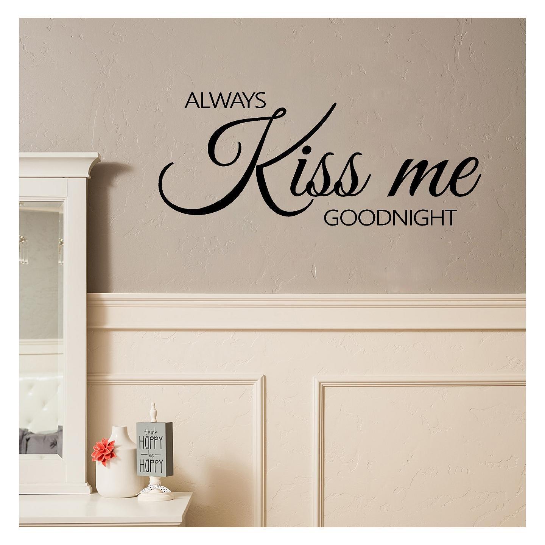 Amazon Always Kiss Me Goodnight Wall Sayings Vinyl Lettering