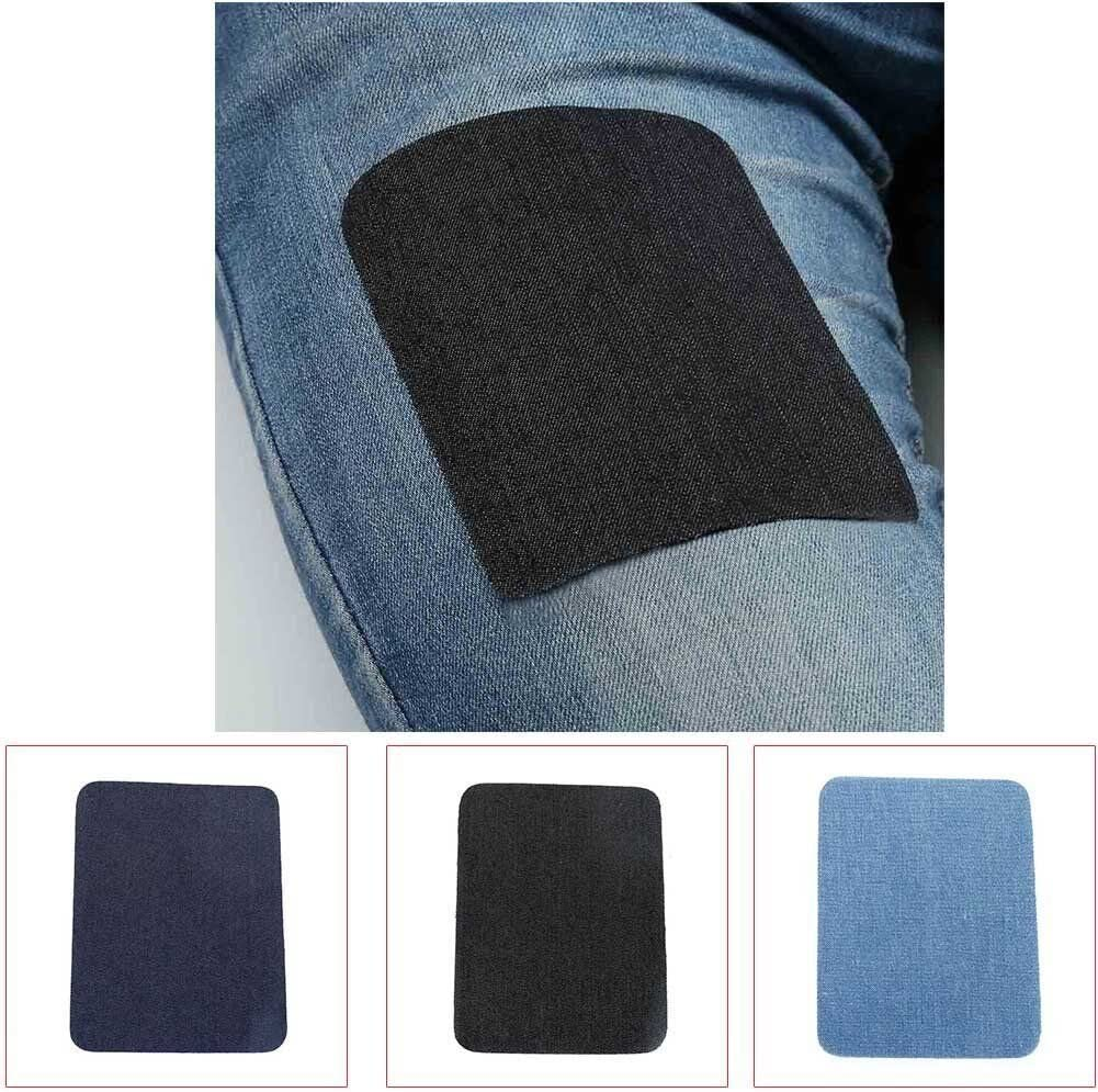 4.9 X 3.8 3 Colors Feihoudei Iron on Denim Patches for Clothing Jeans 24 PCS