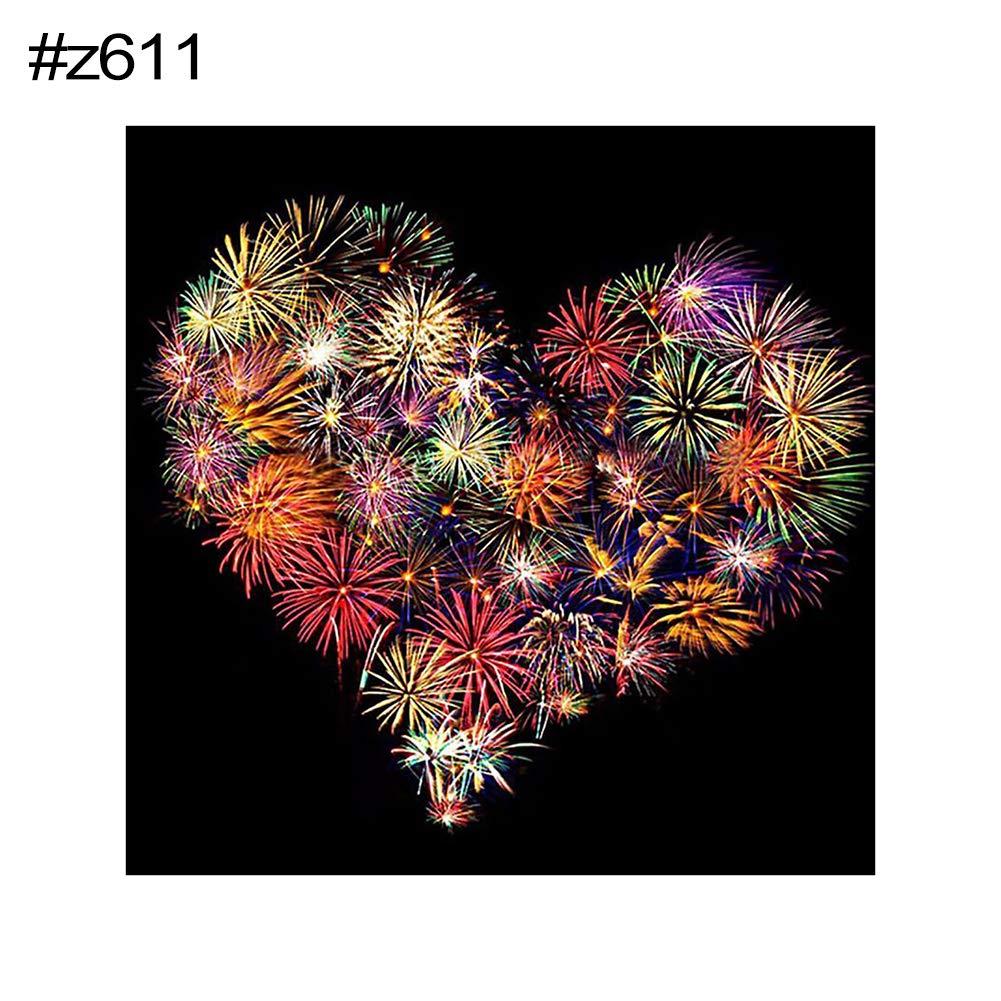 c72 display08 Firework Flower Full Diamond Painting Cross Stitch DIY Handcraft Wall Picture