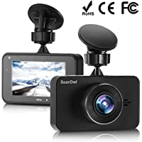 "SoarOwl Dash Cam 1080P Car Dashboard Camera Recorder 3.0"" Screen Car DVR Vehicle with Sony Sensor 6G Lens, 170 Degree Wide Angle, G-Sensor, WDR, Night Vision, Loop Recording"