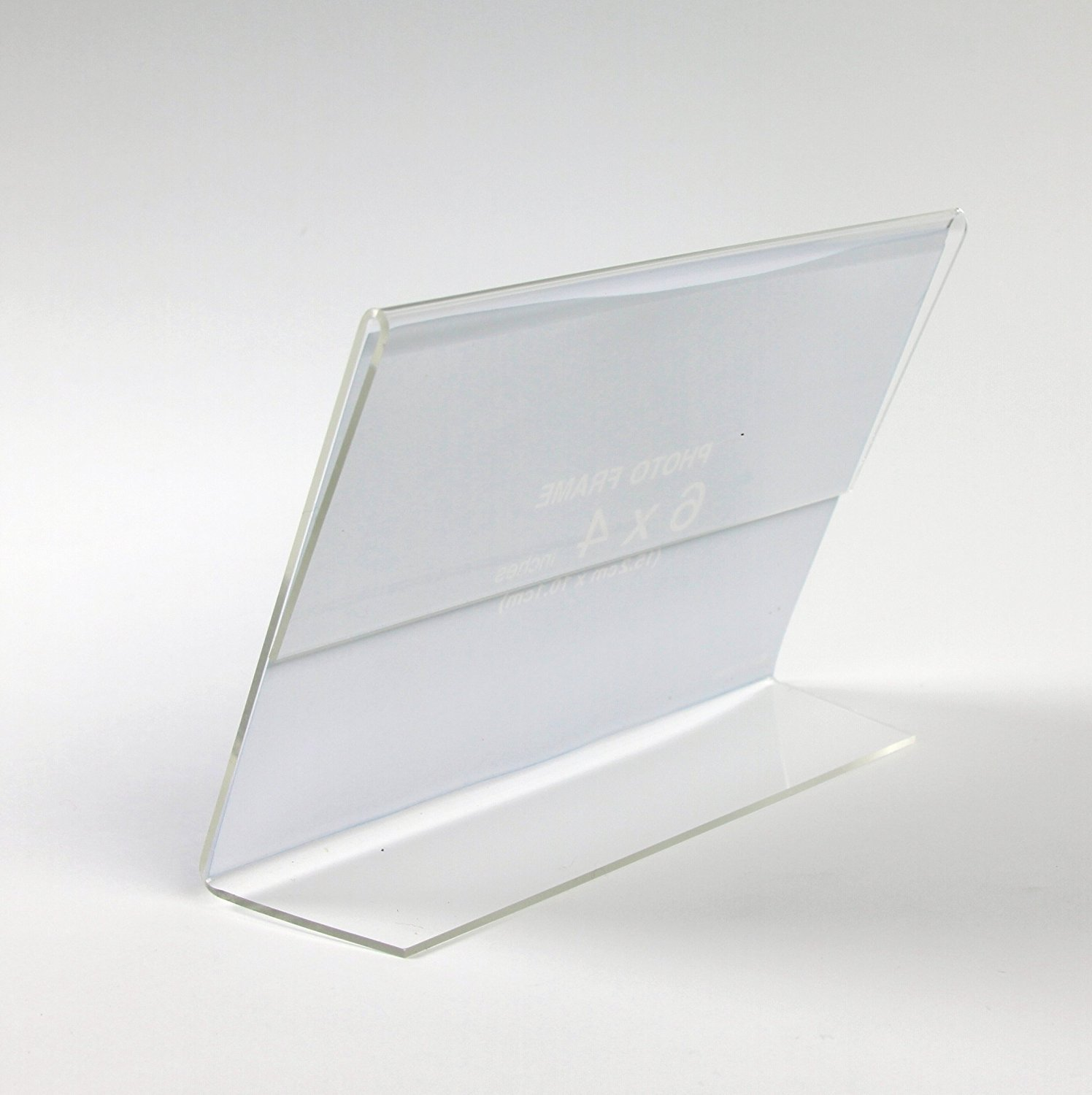 400pack of 6x9 cm Clear Acrylic Slanted Sign Holders Price Tag Advertisement Display Stand Holder