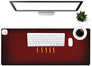 Warm Desk Pad, Olidik 3 Speeds Touch Control Warm Big Mouse Pad, 31