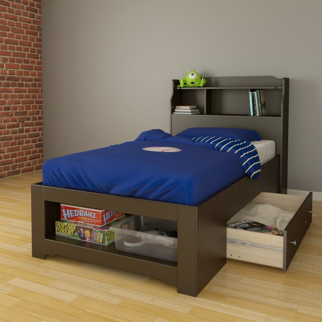 Amazoncom Dixon 1 Drawer Twin Size Storage Bed