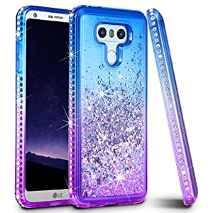 LG G6 Case, LG G6 Plus Case, Ruky Colorful Quicksand Series Glitter Flowing Liquid Floating Protective Shockproof Bling Diamond Soft TPU Phone Case for LG G6 G6 Plus, Colorful