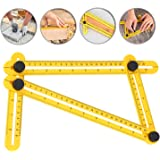 Frienda Angleizer Template Tool Multi-Angle Finder Ruler Layout Tools for Handymen, Builders, Craftsmen, Yellow (1 Pack)