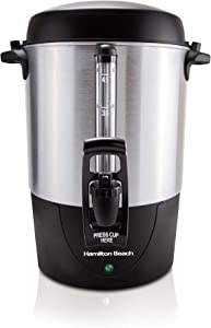 Hamilton Beach 45 Cup Fast Brew Coffee Urn and Hot Beverage Dispenser, Stainless Steel (40521)