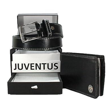 39af3938c5d71 Juventus FC Herren Geldtasche+Gürtel Geschenkkarton Geldbeutel Handtasche  Herren tasche Geldbörse Portemonnaie