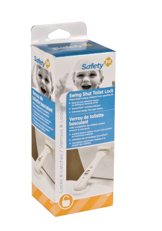 Amazon.com : Safety 1st Swing Shut Toilet Lock : Childrens Bathroom ...