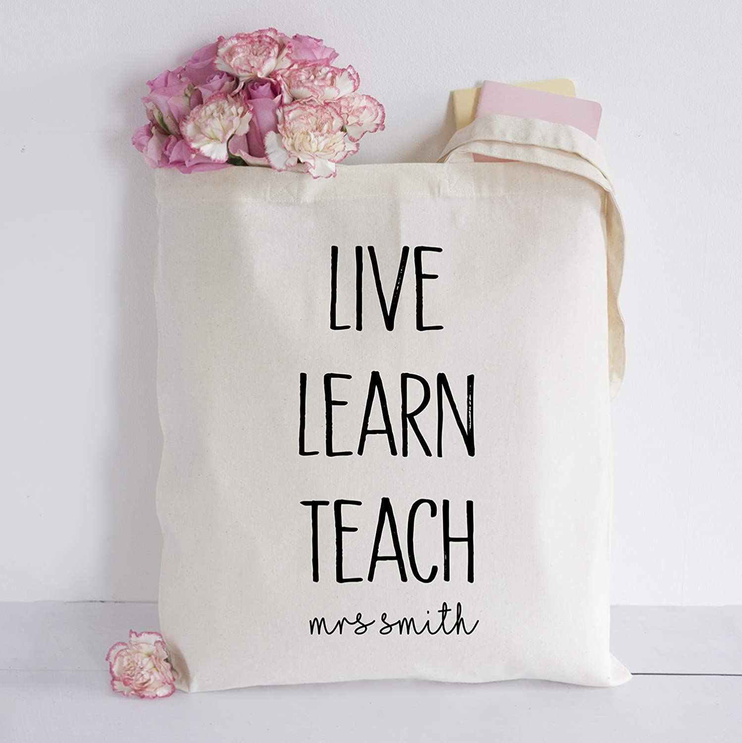 Learn Teach Tote Bag Personalised Live
