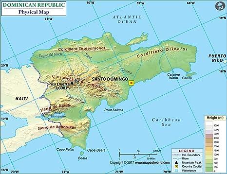 Cartina Geografica Haiti.Repubblica Dominicana Mappa Fisica 91 4 Cm W X 70 3 Cm H Amazon It Cancelleria E Prodotti Per Ufficio