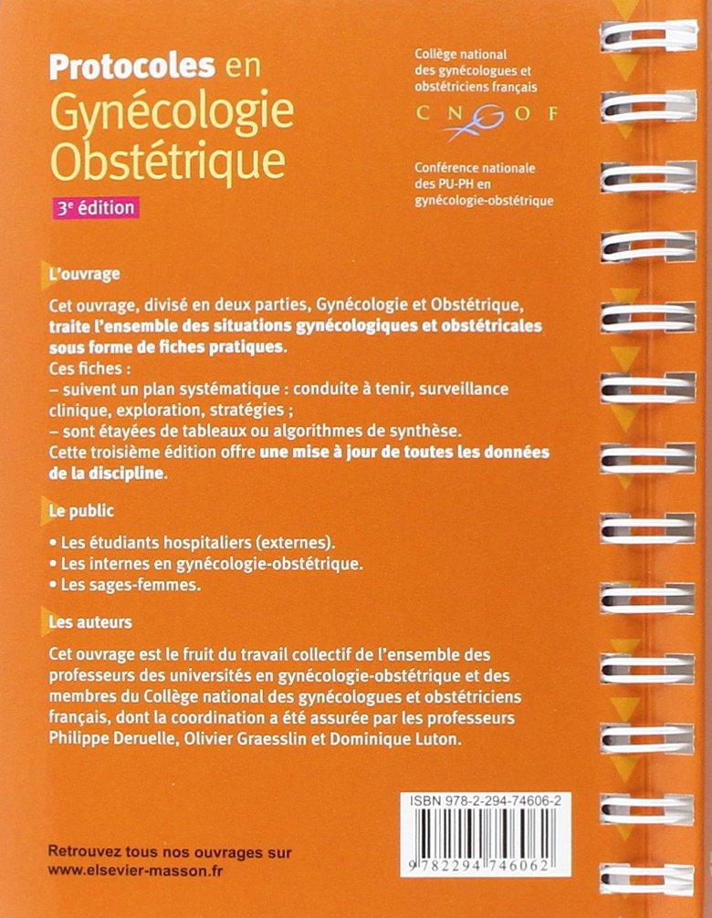 protocoles gynécologie obstétrique