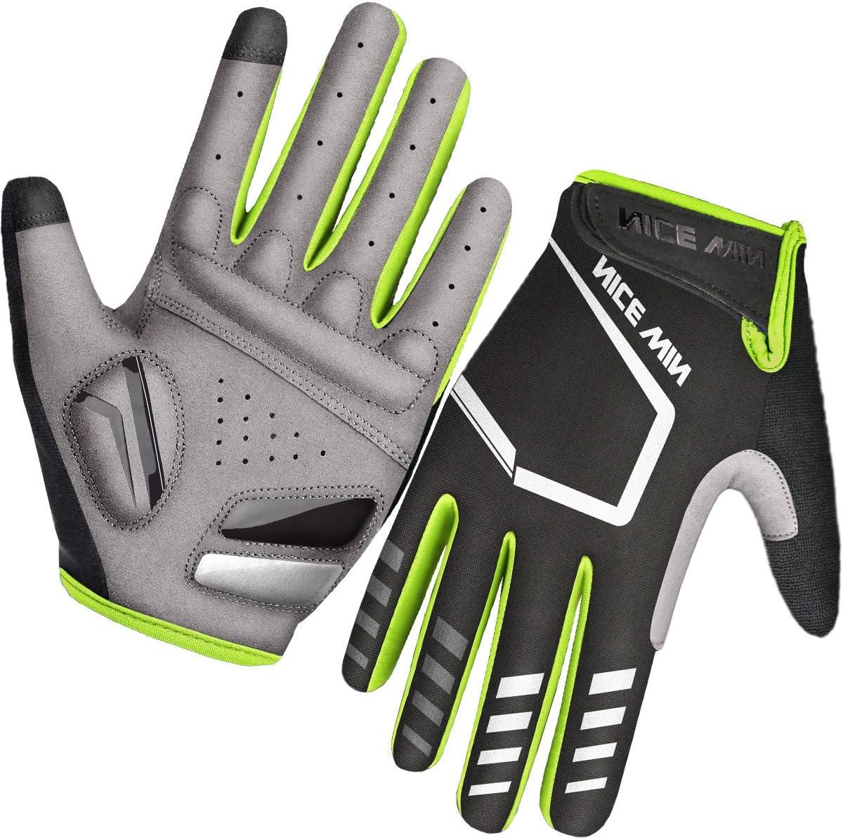 LOHOTEK Cycling Gloves for Mountain Bikes Padded Road Bike for Men Women Non-Slip Touch Screen