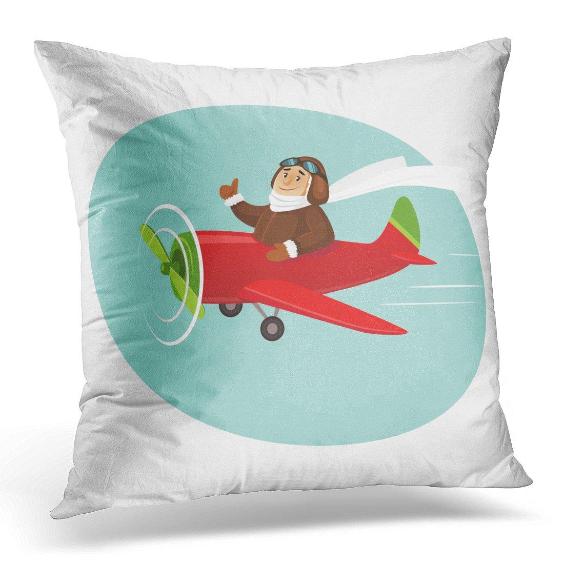 "/'US Pilot/' Design 16/"" x 16/"" Square Cushion Cover 100/% Cotton"