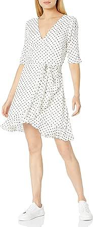 Marca Amazon - Aki Vestido de Manga Corta Con Volantes de Viscosa - dresses Mujer por The Drop