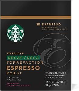 Starbucks Decaf Espresso Roast Espresso Verismo Pods (12 Count),Black