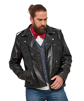 8e59b01b3 Joe Browns Mens Vintage Leather Biker Jacket at Amazon Men's ...