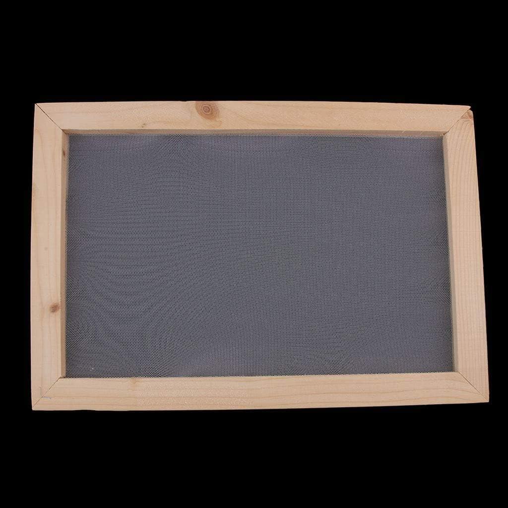 20 x 30 cm POFET M/éthode de fabrication de papier antique en bois pour fabrication de papier artisanal