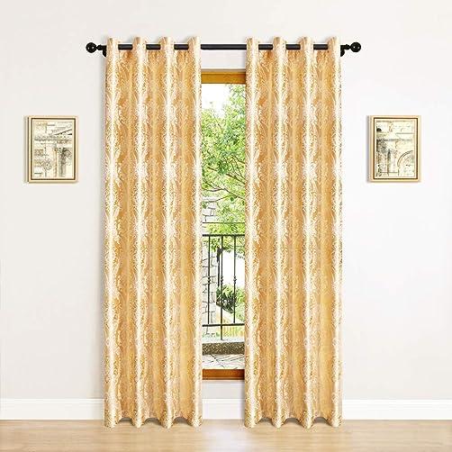 Best window curtain panel: Jacquard Room Curtains