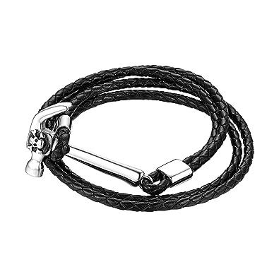 Amazon com: Flongo Men Cuff Bracelet, Men's Punk Rock Hammer