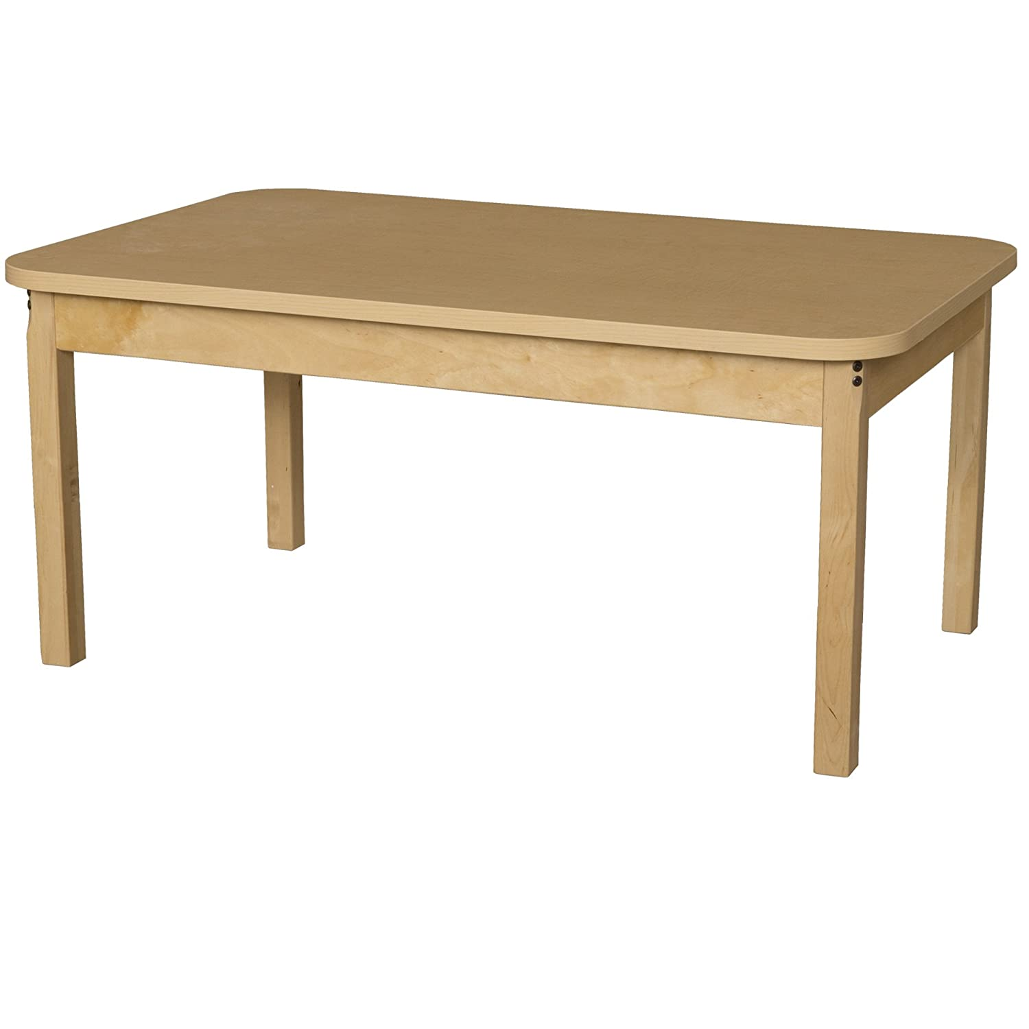 "Wood Designs HPL304816 Rectangle High Pressure Laminate Table with Hardwood Legs-16"", 17"" Height, 30"" Width, 48"" Length"