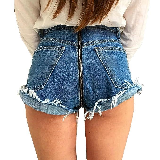 638317b6a1894f Skinny Jeans per Donna, Eleganti Slim Fit Comode Elastico Pantaloni A Vita  Alta Cerniera Matita Pantaloni Lunghi in Denim Streetwear: Amazon.it: ...