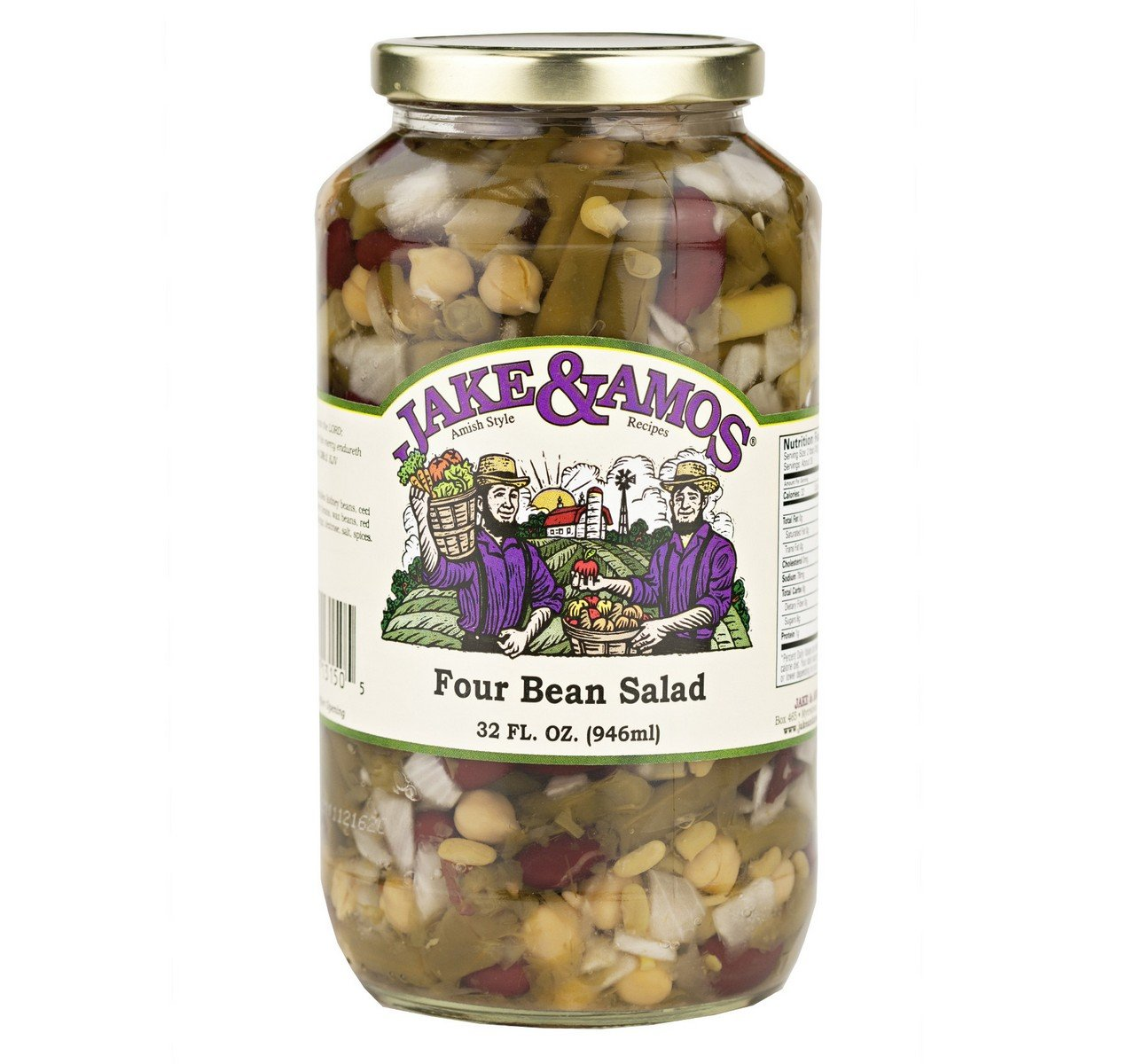 Jake & Amos Four Bean Salad, Pack of 2 (32 Oz. Jar)