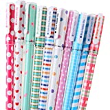 Yansanido Pack of 10 Cute Color Pens for Women Toshine Colorful Gel Ink Pens Multi Colored Pens for Bullet Journal Writing Roller Ball Fine Point Pens (0.38mm 10pcs B