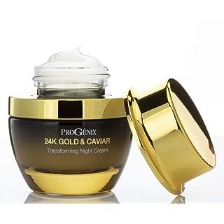 ProGenix Retinol Night Cream with Hyaluronic Acid, 24kt Gold and Vegan Green Caviar for Fine Lines, Wrinkles, and Dark Spots. 1 FL OZ (30 mL)
