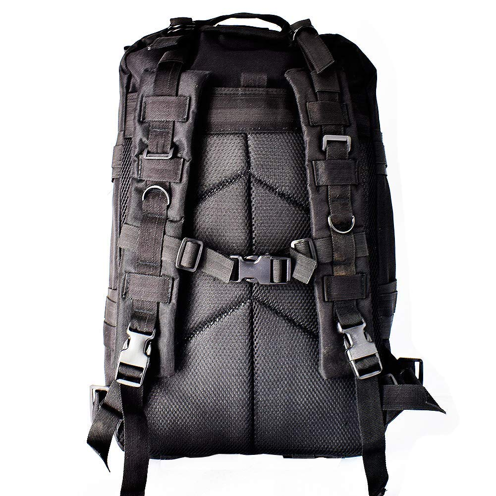 Amazon.com : Obvie Outdoor 3P Military Tactical Backpack Army Molle Rucksack for Camping Hiking and Trekking Waterproof (Black30) : Sports & Outdoors