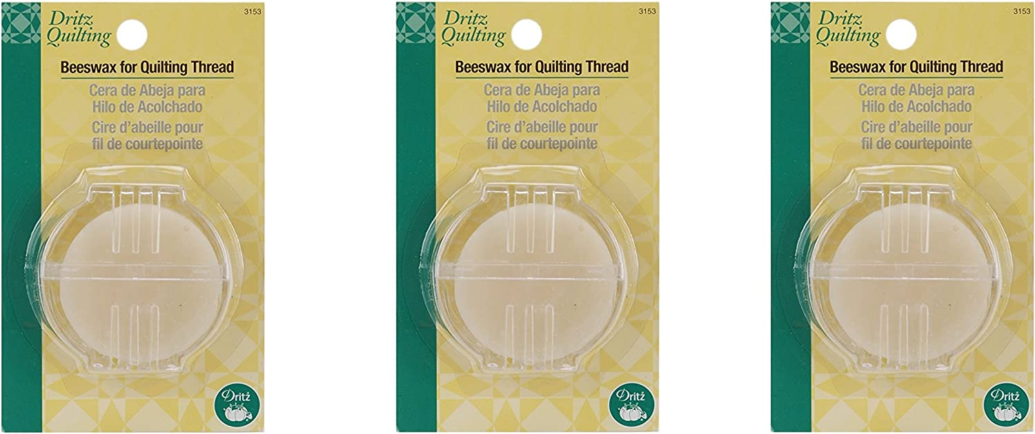 Dritz 622 Beeswax with Holder for Quilt Fabric Products