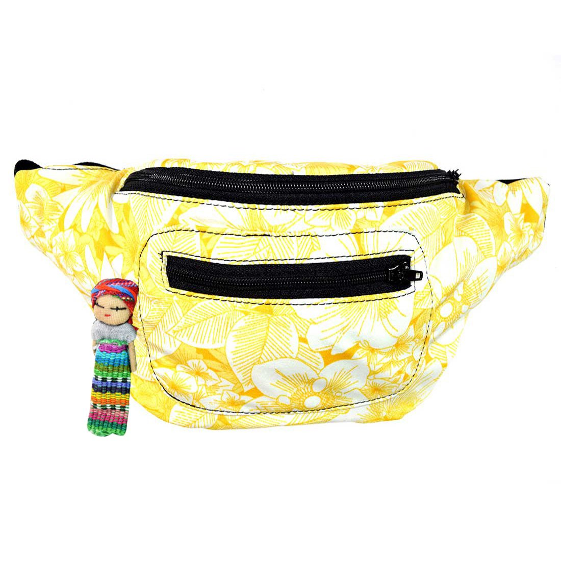 Floral Fanny Pack, Stylish Party Boho Chic Handmade with Hidden Pocket (Summer of '89)