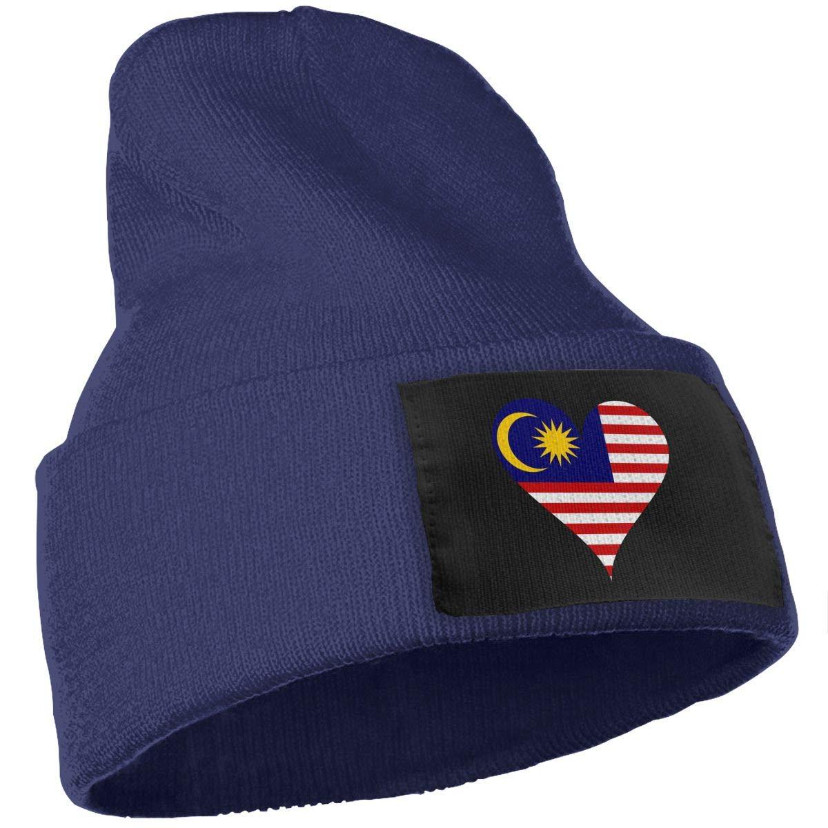 SLADDD1 Malaysia Heart Warm Winter Hat Knit Beanie Skull Cap Cuff Beanie Hat Winter Hats for Men /& Women