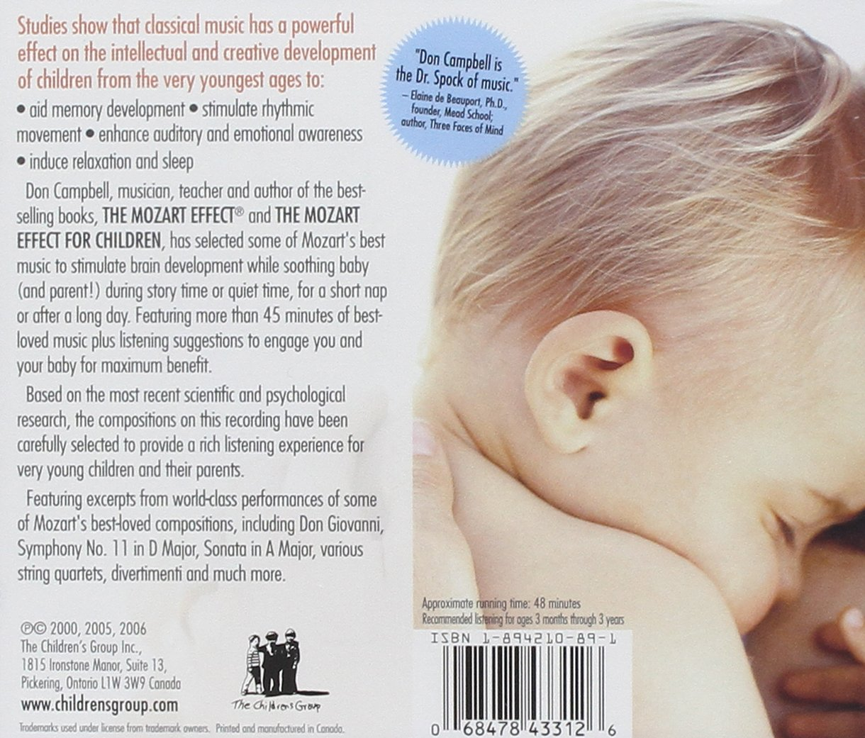 The Mozart Effect: Music for Babies, Vol. 2: Nighty Night by Children's Group