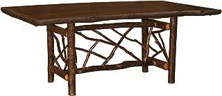 product image for Hickory Twig Log Dining Table Ornate Bark On Legs Custom Sizes Armor Finish