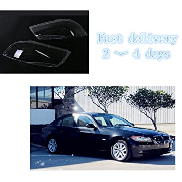 Jade Onlines Headlight Lens Plastic Shell Cover For BMW 3