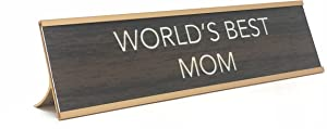 Aahs!! Engraving World's Best Funny Desk Plates | Humorous Signs for Office Mother's & Father's Day | Novelty Gifts Mom