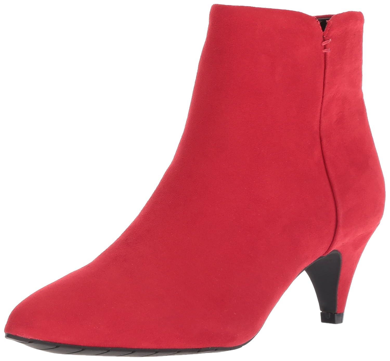 Red Kenneth Cole REACTION Womens Kick Bit Kitten Heel Bootie Ankle Boot