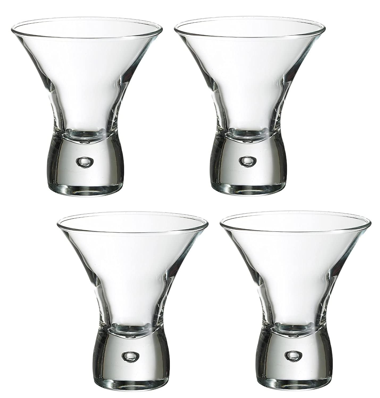 Durobor Cancun 8.5oz / 240ml (Pack of 4) Cocktail Martini Short Stem Glasses