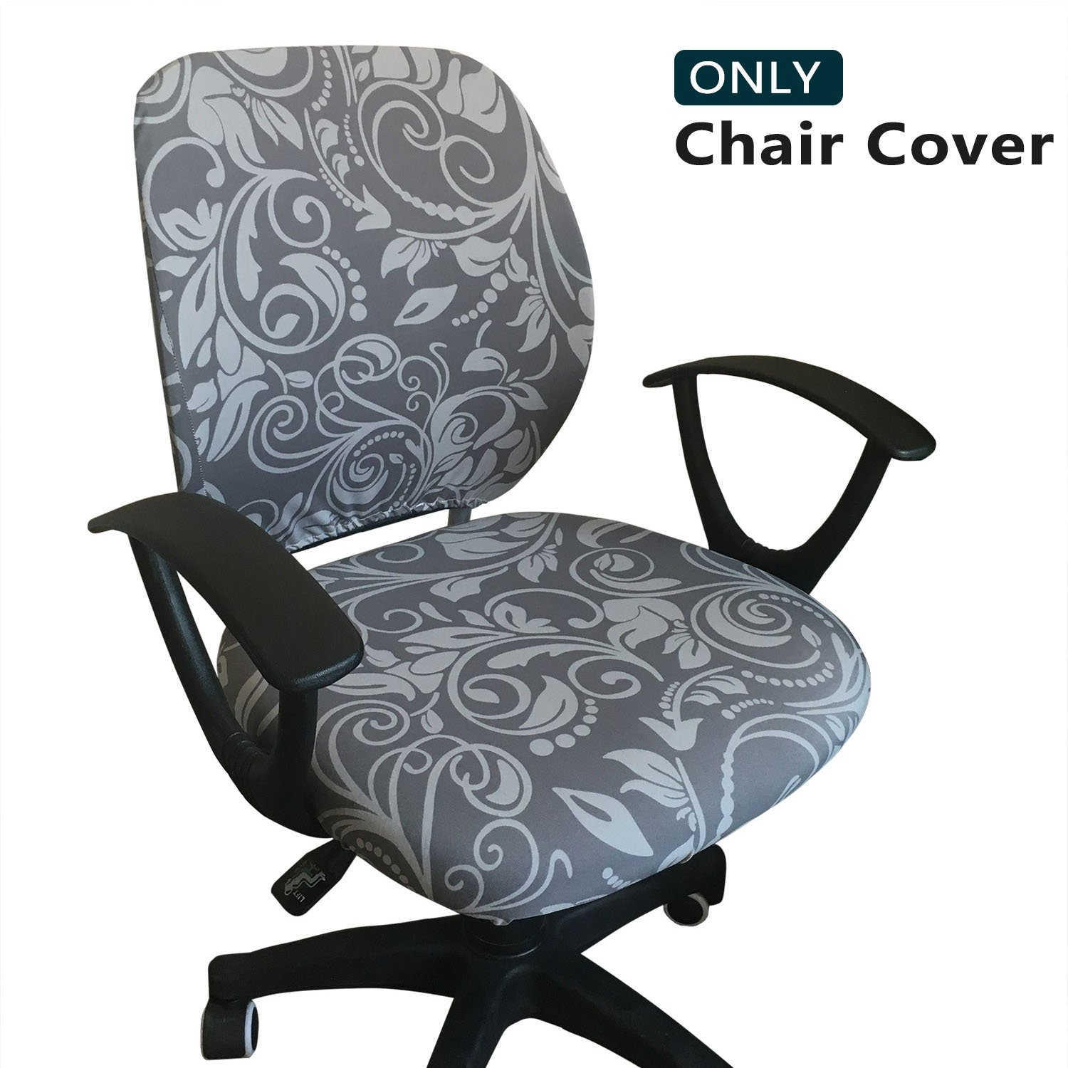 Melaluxe Computer Office Chair Cover - Protective & Stretchable Universal Chair Covers Stretch Rotating Chair Slipcover by Melaluxe