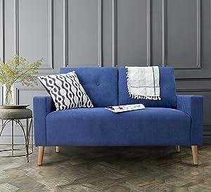 Homall Tufted 2 Seater Sofa Love Seats, Blue