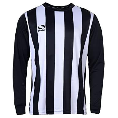 081dc22b9b2 Sondico Mens Milano Football Shirt Long Sleeve Round Neck: Amazon.co ...