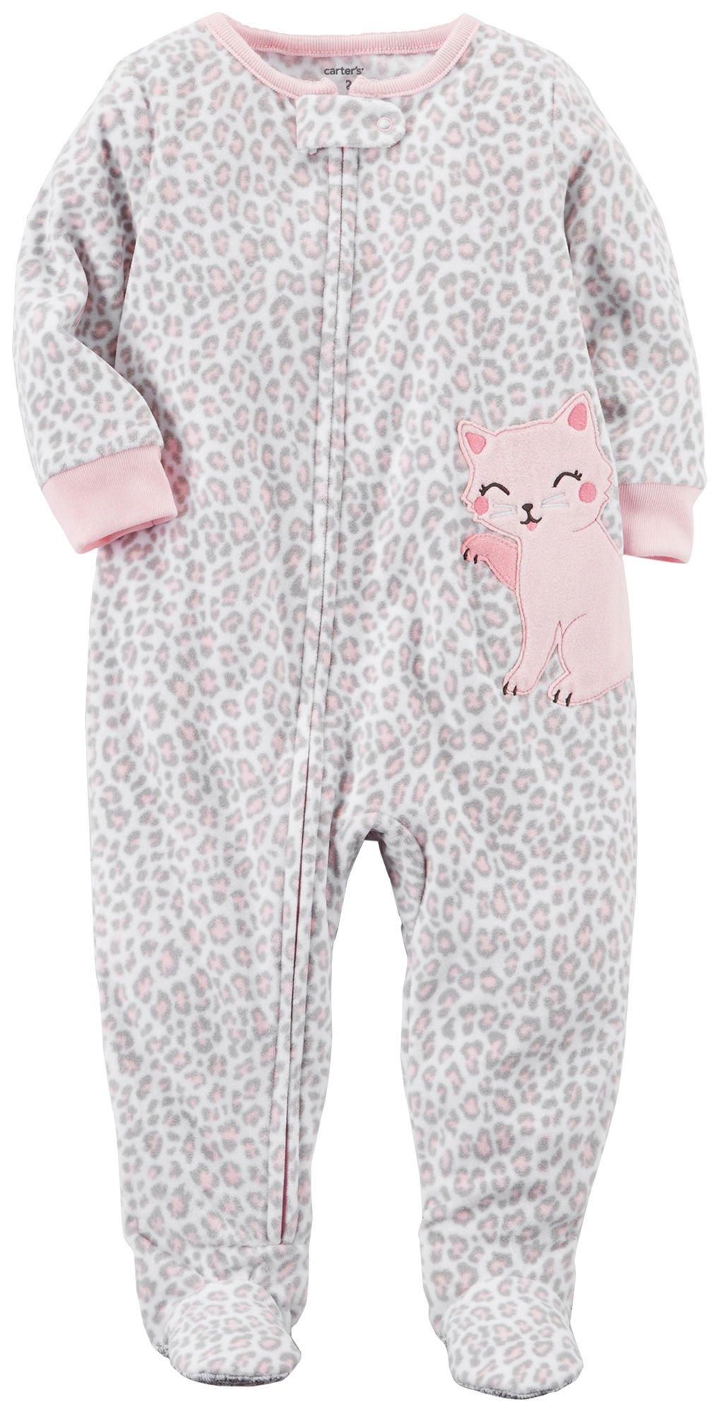 pajamas sleepers zoom pjs sleeper v one baby fleece piece oshkosh loading girl