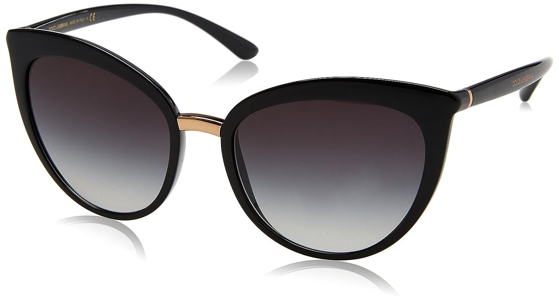 8f8e5b1f32f9 Amazon.com: Dolce & Gabbana Women's Essential Cat Eye Sunglasses,  Black/Grey, One Size: Dolce and Gabbana: Clothing