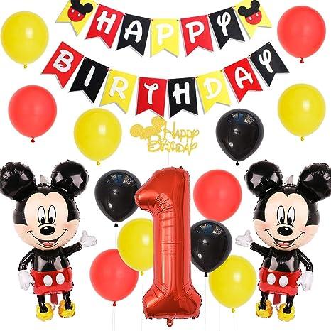 Fangleland Mickey Mouse 1er cumpleaños Decoraciones para ...