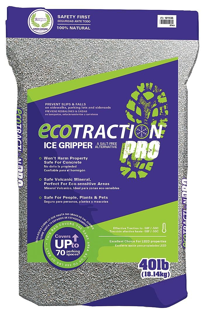 Ecotraction Pro ET40X All-Natural Winter Traction, 40 lb, Bag by Ecotraction Pro