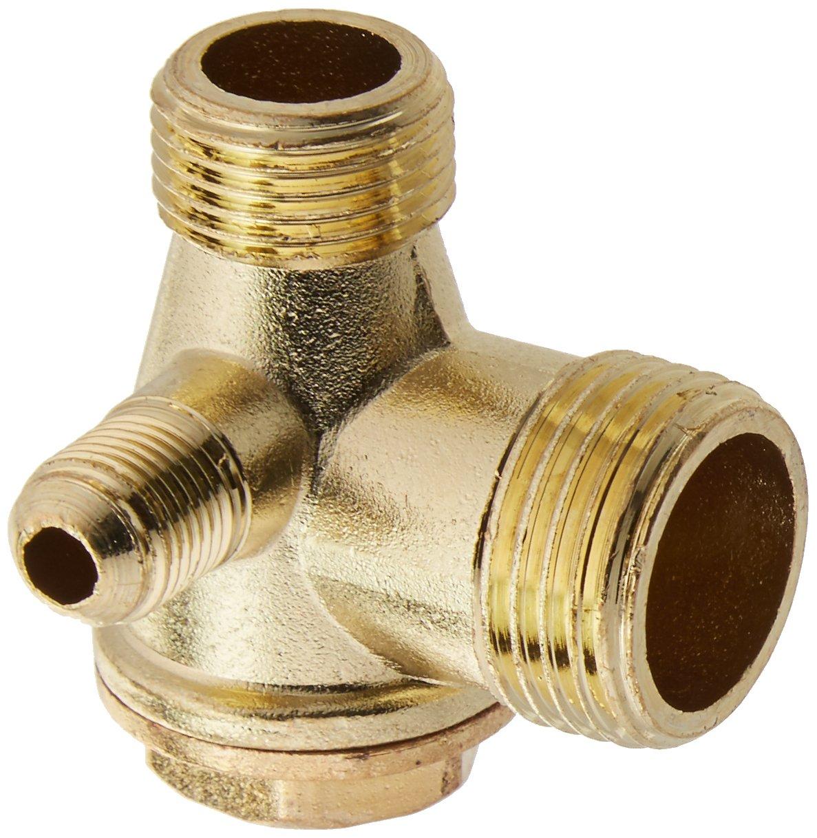 Sourcingmap - Tono de cobre de 3 ví as accesorios compresor de aire de la vá lvula de retenció n roscado a13101500ux0167