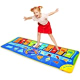Musical Piano Mat 50'' x 18.5'' Piano Keyboard Play Mat 10 Keys Floor Piano Mat Music Dance Mat with 8 Musical…
