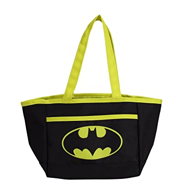 DC Comics Batman Easter Egg Bag for Children, Boys, & Girls | Superhero Reusable Tote Bag with Handles for Candy, Treats, Goodies, & Easter Grass: Office Products