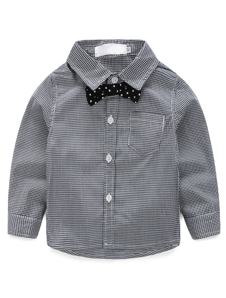 Abolai Baby Boys' 3 Piece Vest Set with Shirt,Vest and Pant Grey 80 by Abolai (Image #3)