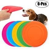 Legendog 6 Pcs Dog Flying Disc Rubber Small Dog Toys